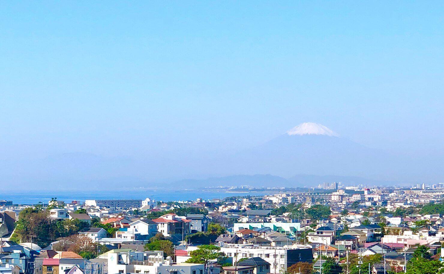 藤沢片瀬の住宅-海・富士山・江ノ島を臨む家