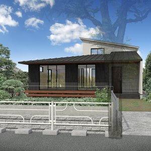 北鎌倉の住宅-山紫水明な鎌倉の緑に佇む家 外観(予定)