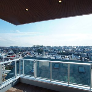 横浜市港北区篠原北2丁目プロジェクト バルコニーからの眺め