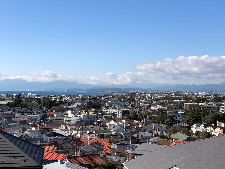 藤沢片瀬の住宅―海・富士山・江ノ島を望む家―
