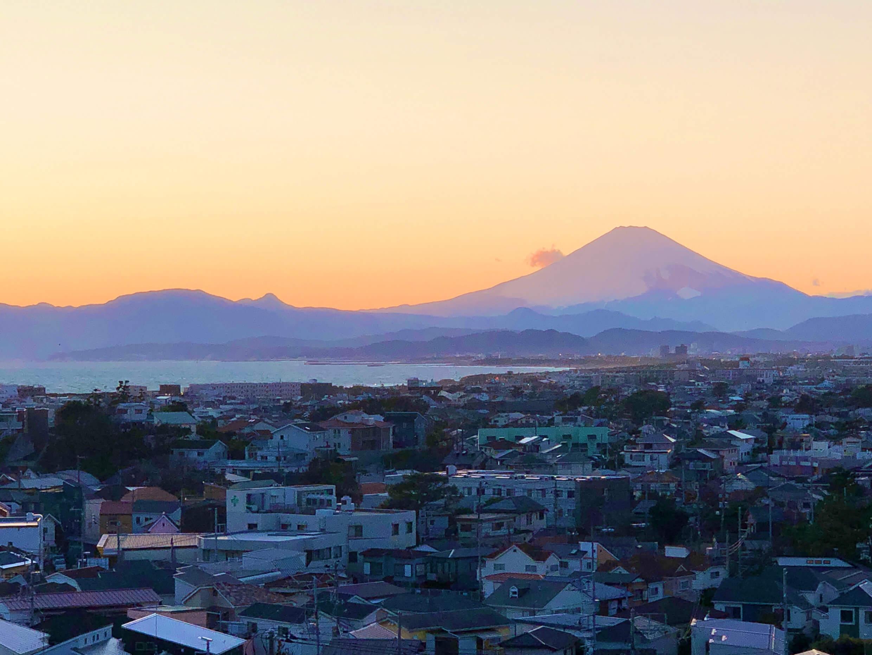 『藤沢片瀬の住宅』からの夕焼け