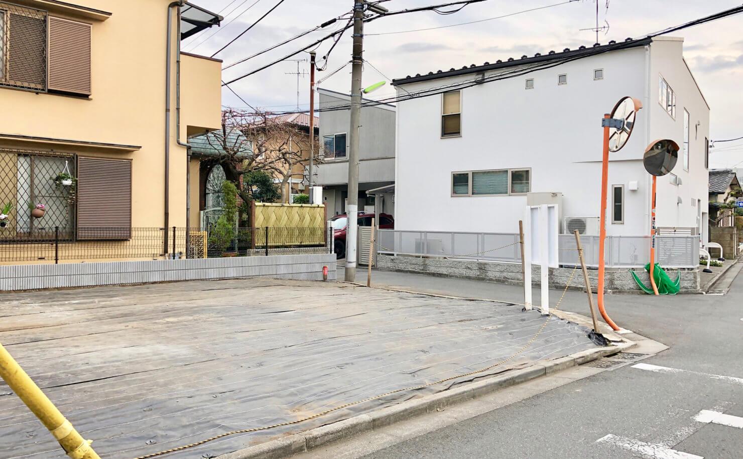 世田谷千歳台の住宅 予定地